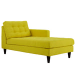 Empress Right-Arm Upholstered Fabric Chaise