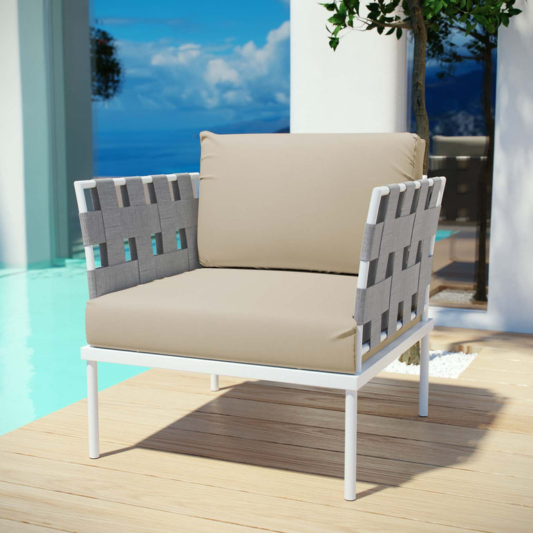 Harmony Outdoor Patio Aluminum Armchair