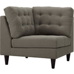 Empress Upholstered Fabric Corner Sofa