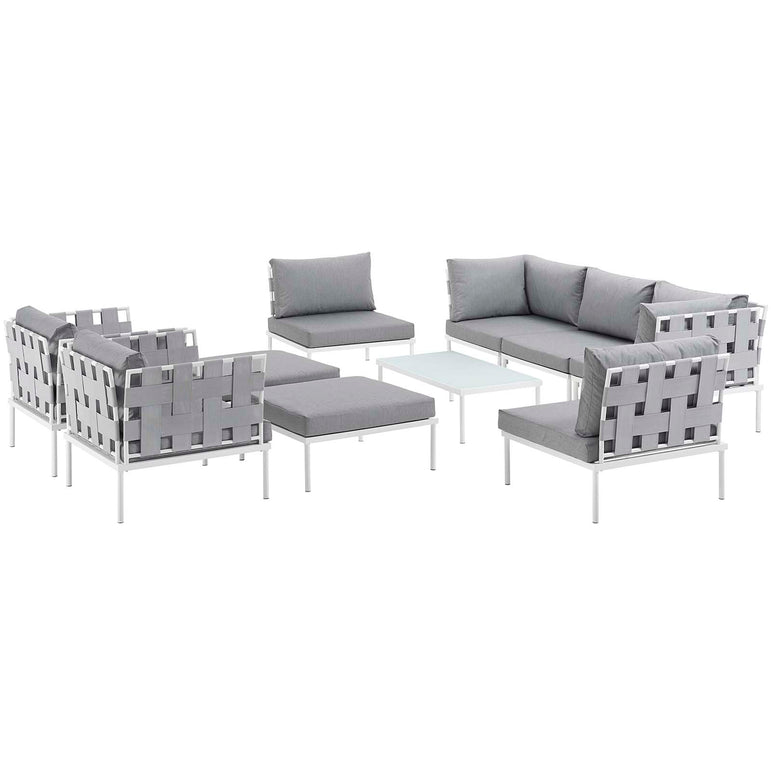 Harmony 10 Piece Outdoor Patio Aluminum Sectional Sofa Set