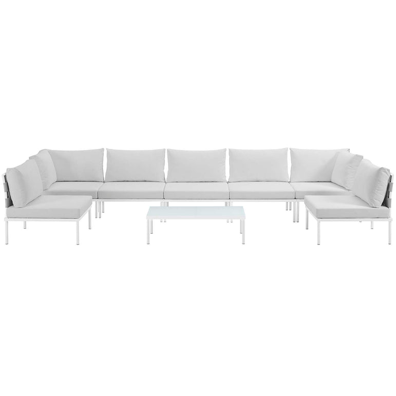 Harmony 8 Piece Outdoor Patio Aluminum Sectional Sofa Set
