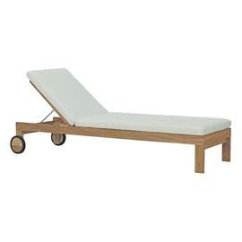 Upland Outdoor Patio Teak Chaise