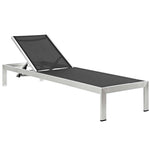 Shore Chaise with Cushions Outdoor Patio Aluminum Set of 2