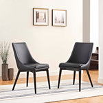 Viscount Dining Side Chair Vinyl Set of 2
