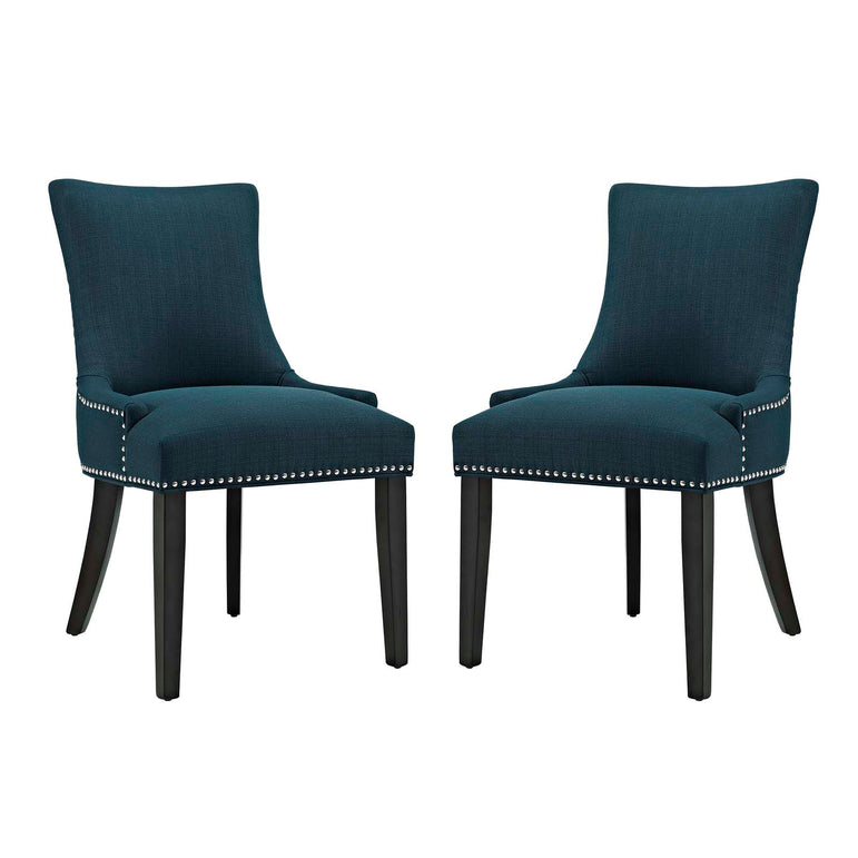 Marquis Dining Side Chair Fabric Set of 2