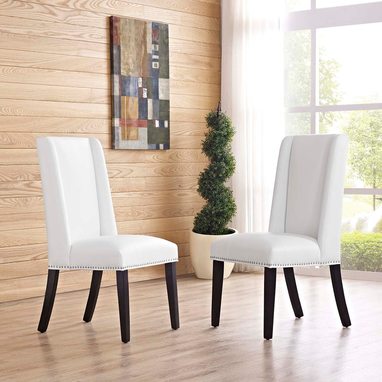 Baron Dining Chair Vinyl Set of 2