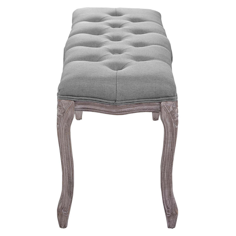 Regal Vintage French Upholstered Fabric Bench