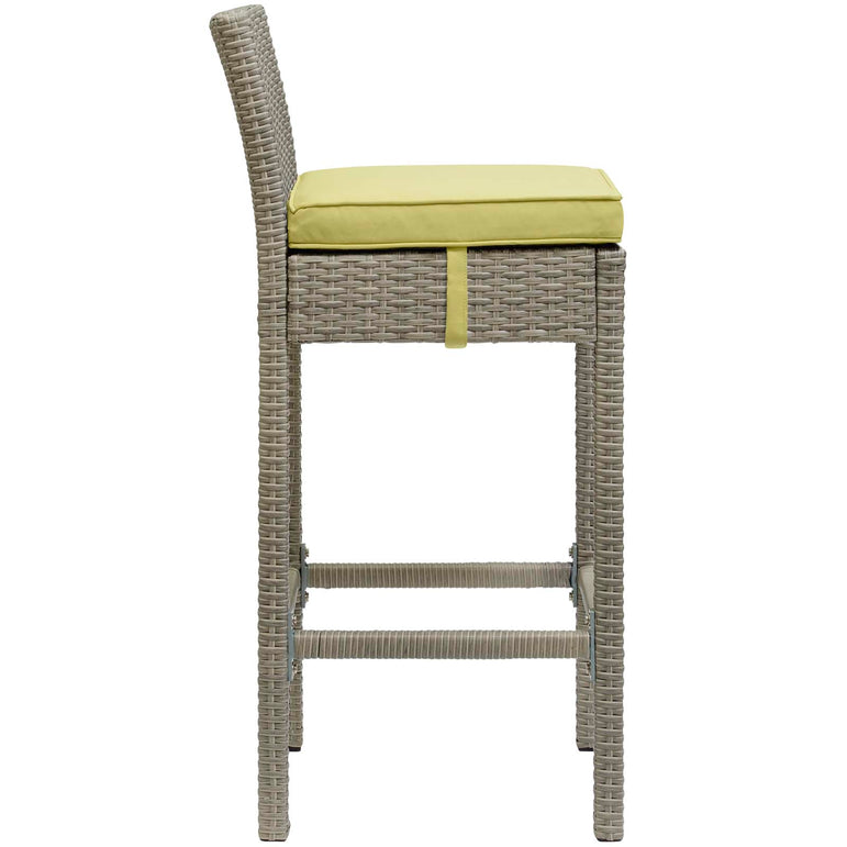 Conduit Outdoor Patio Wicker Rattan Bar Stool