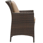 Conduit Outdoor Patio Wicker Rattan Dining Armchair