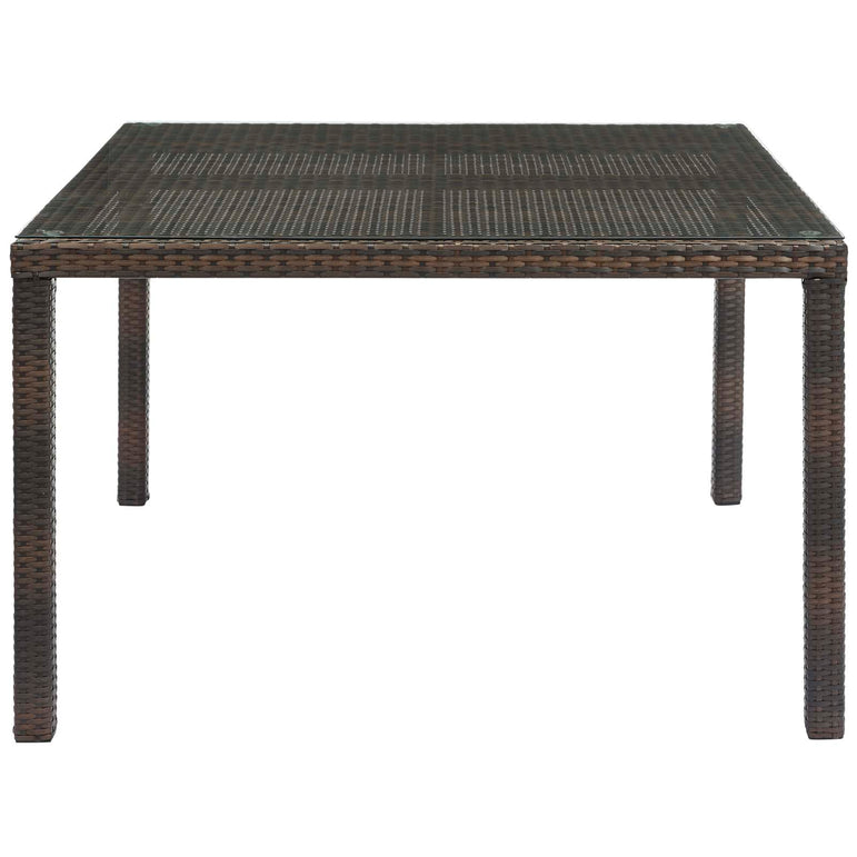 "Conduit 47"" Outdoor Patio Wicker Rattan Dining Table"