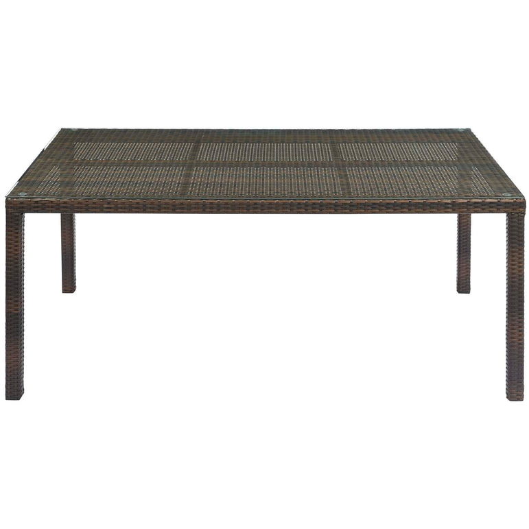 "Conduit 70"" Outdoor Patio Wicker Rattan Dining Table"
