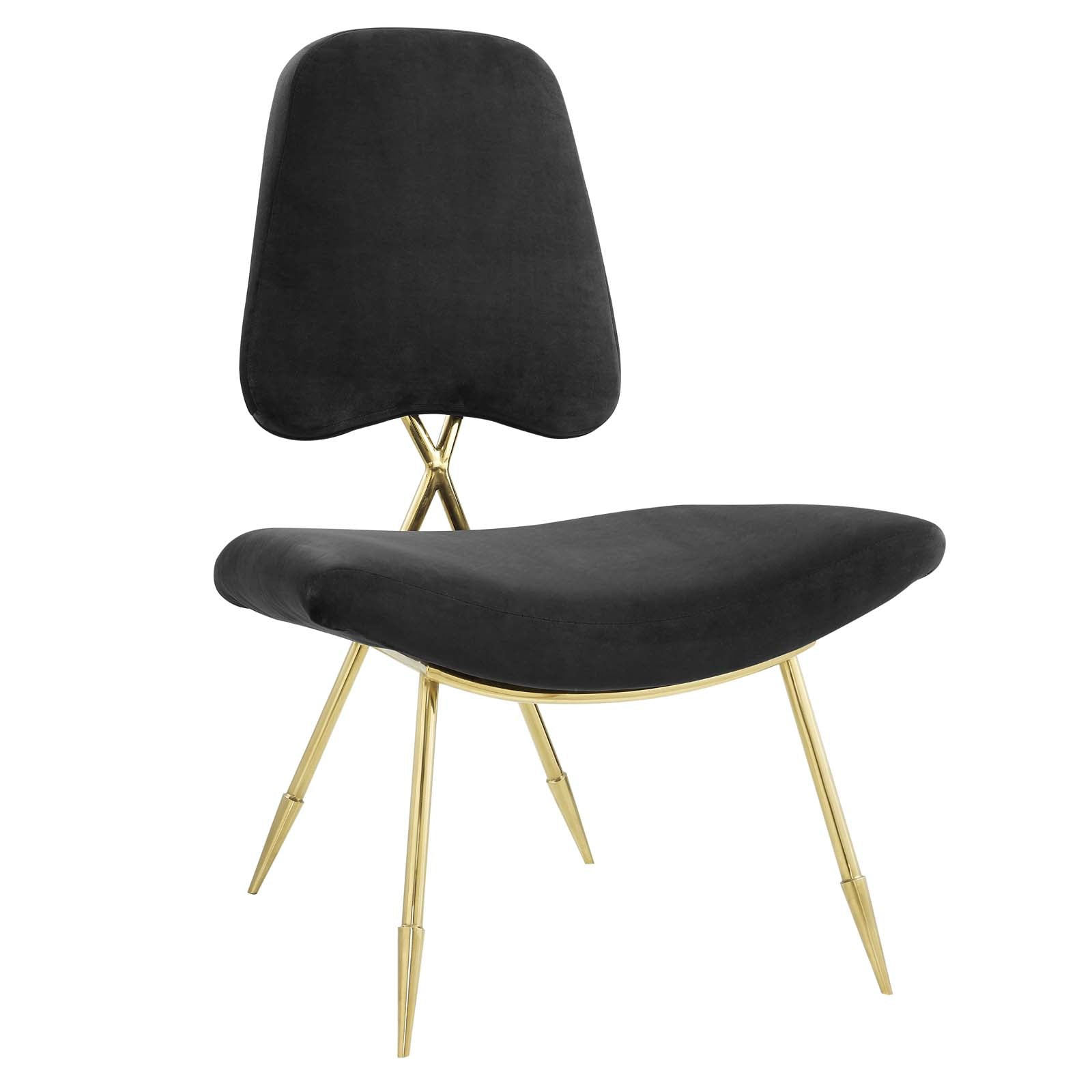 Ponder Performance Velvet Lounge Chair