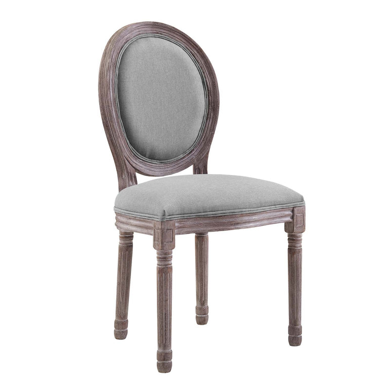 Emanate Vintage French Upholstered Fabric Dining Side Chair