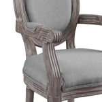 Emanate Vintage French Upholstered Fabric Dining Armchair