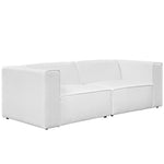 Mingle 2 Piece Upholstered Fabric Sectional Sofa Set