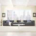 Mingle 4 Piece Upholstered Fabric Sectional Sofa Set