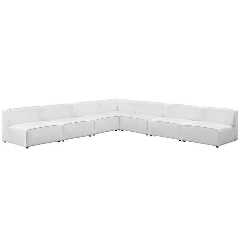 Mingle 7 Piece Upholstered Fabric Sectional Sofa Set