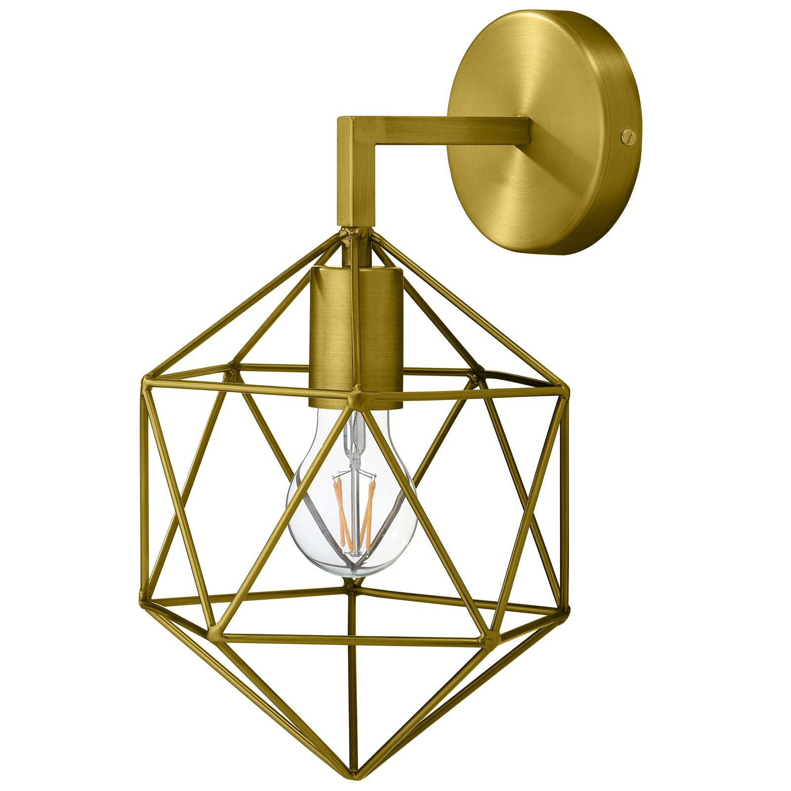 Derive Brass Wall Sconce Light Fixture