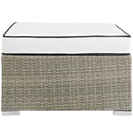Repose Outdoor Patio Upholstered Fabric Ottoman
