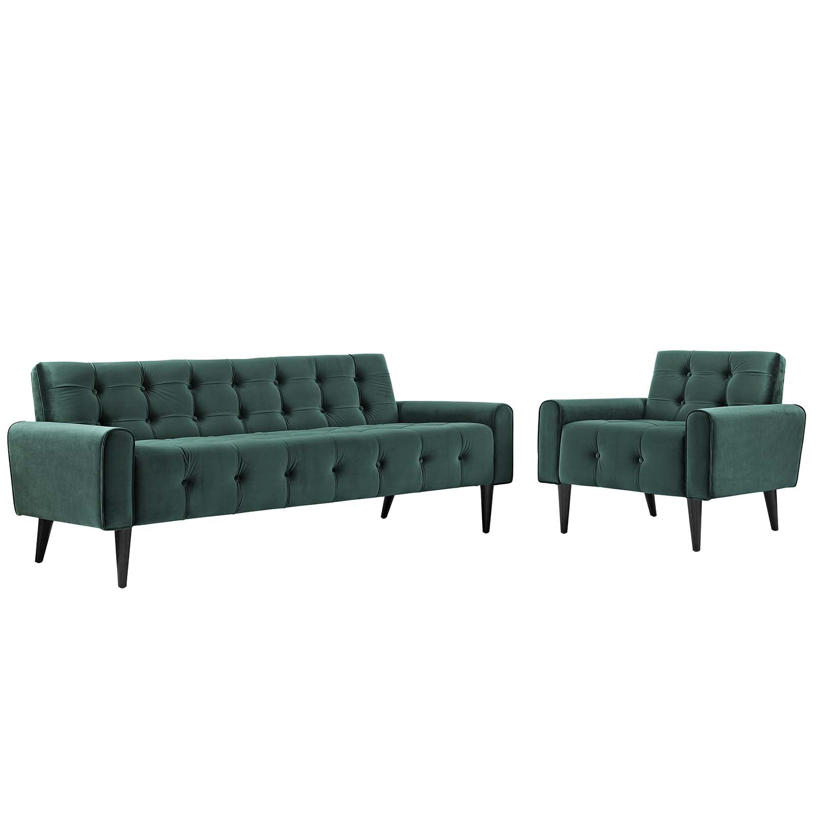Delve Living Room Set Performance Velvet Set of 2