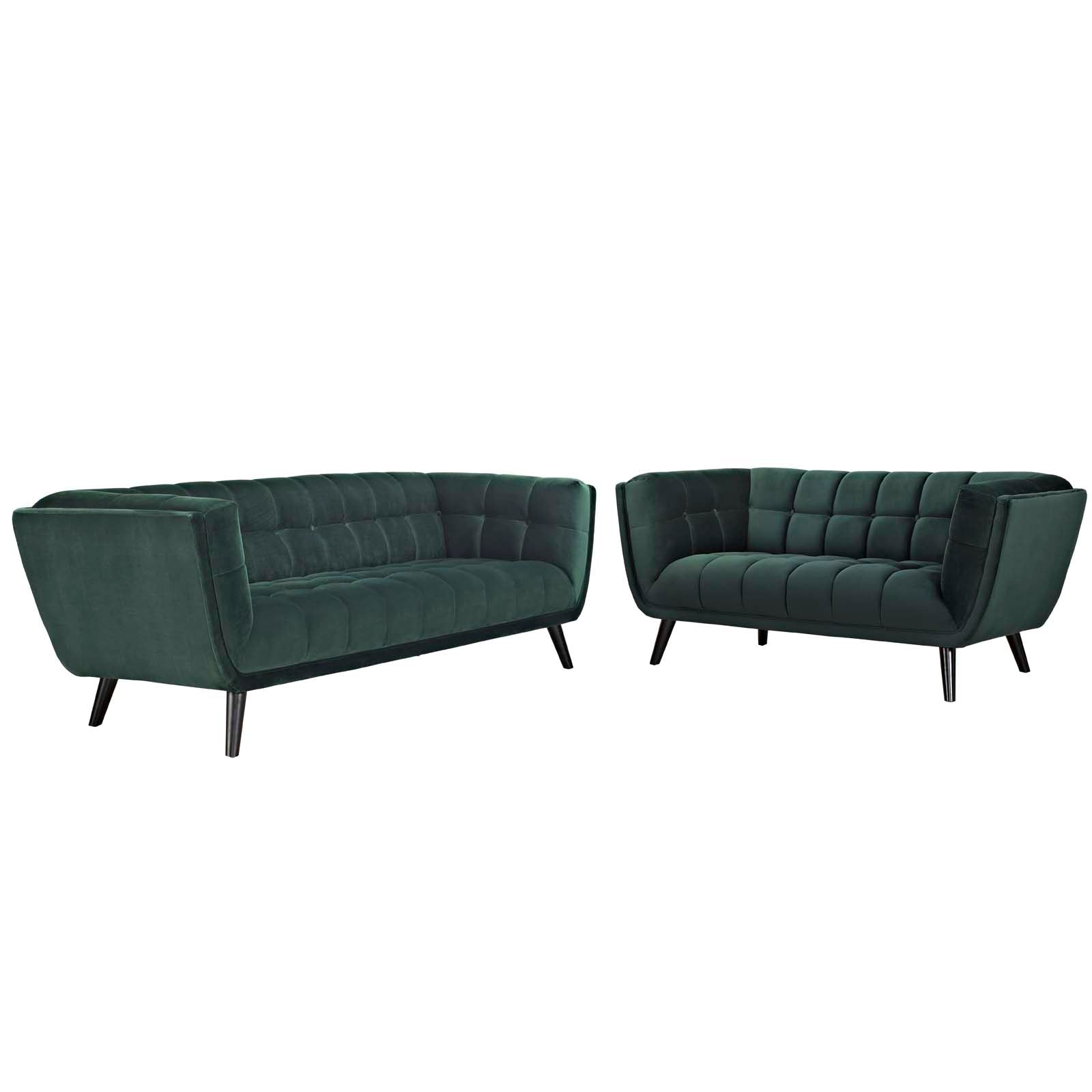 Bestow 2 Piece Performance Velvet Sofa and Loveseat Set