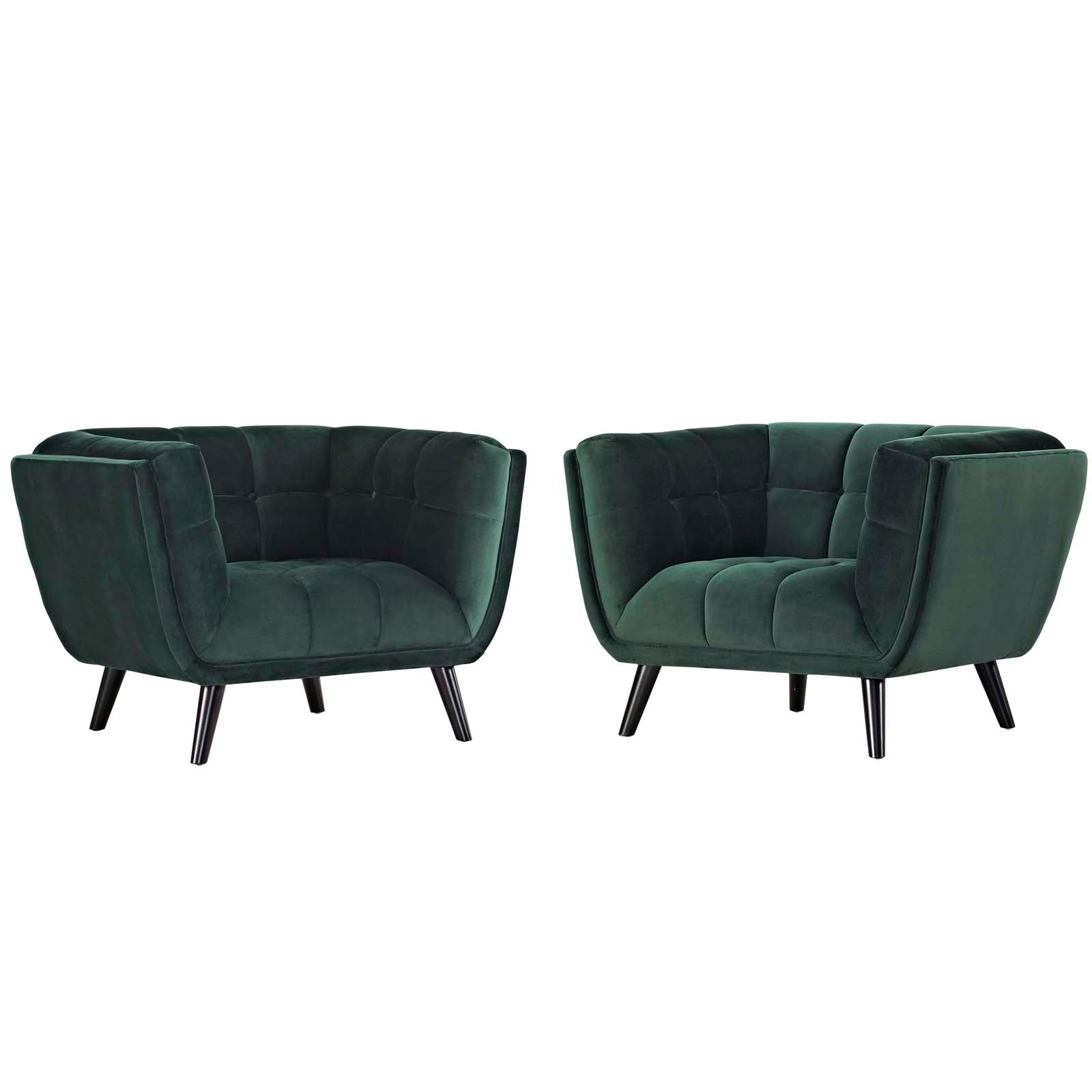 Bestow 2 Piece Performance Velvet Armchair Set
