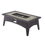 "Splendor 43.5"" Rectangle Outdoor Patio Fire Pit Table"