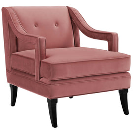 Concur Button Tufted Performance Velvet Armchair