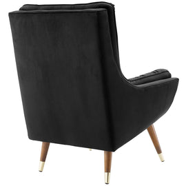 Suggest Button Tufted Performance Velvet Lounge Chair