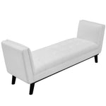 Haven Tufted Button Faux Leather Accent Bench