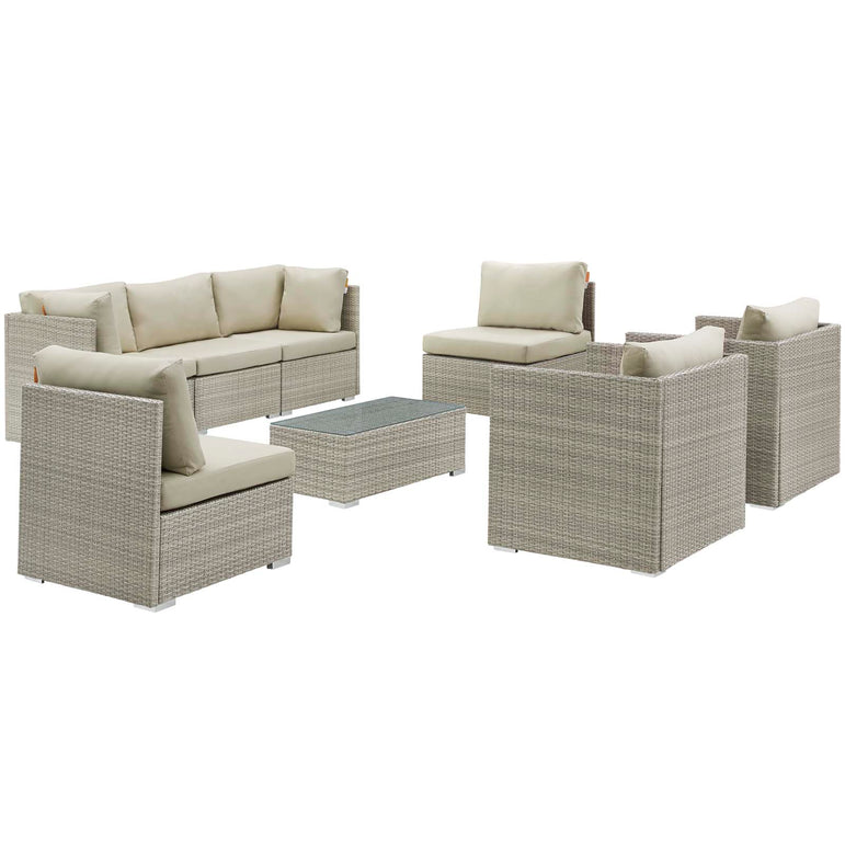 Repose 8 Piece Outdoor Patio Sunbrella® Sectional Set