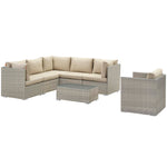 Repose 7 Piece Outdoor Patio Sunbrella® Sectional Set