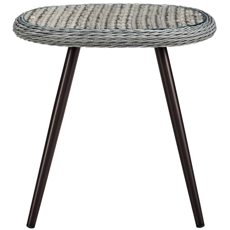 Endeavor Outdoor Patio Wicker Rattan Side Table