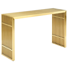 Gridiron Stainless Steel Console Table