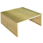 Gridiron Stainless Steel Coffee Table
