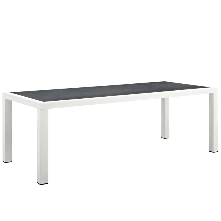 "Stance 90.5"" Outdoor Patio Aluminum Dining Table"