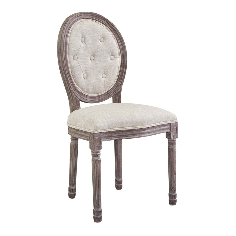 Arise Vintage French Upholstered Fabric Dining Side Chair Set of 2