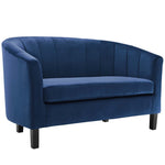 Prospect Channel Tufted Performance Velvet Loveseat