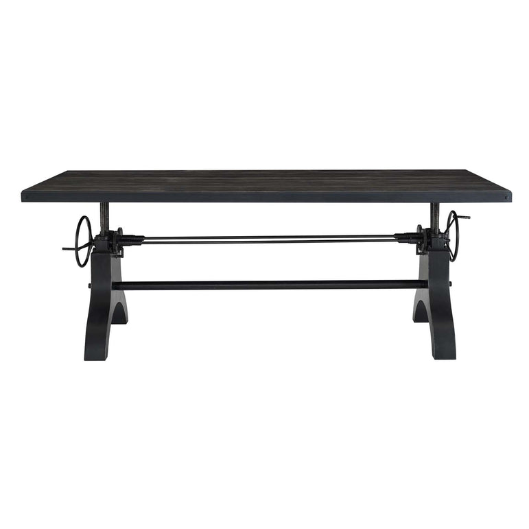 "Genuine 96"" Crank Height Adjustable Rectangle Dining and Conference Table"