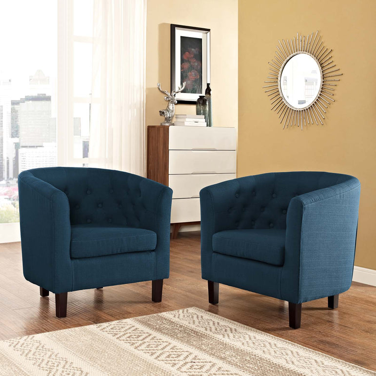 Prospect 2 Piece Upholstered Fabric Armchair Set