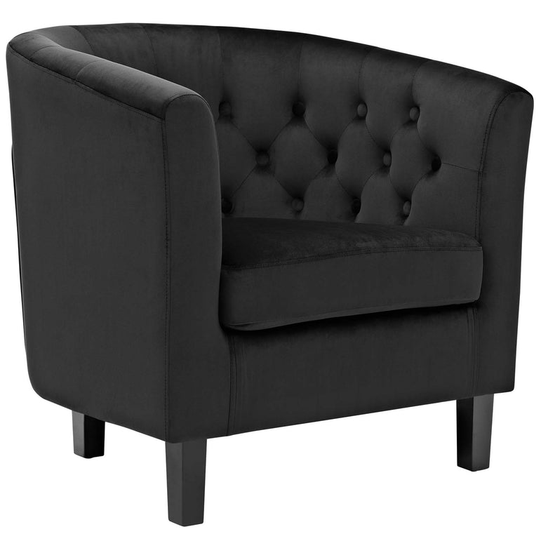 Prospect 3 Piece Performance Velvet Loveseat and Armchair Set