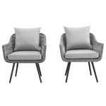 Endeavor Armchair Outdoor Patio Wicker Rattan Set of 2