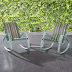 Traveler Rocking Lounge Chair Outdoor Patio Mesh Sling Set of 2