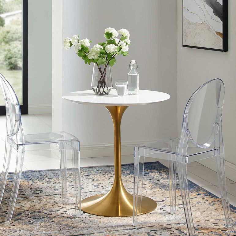 "Lippa 28"" Round Wood Dining Table"