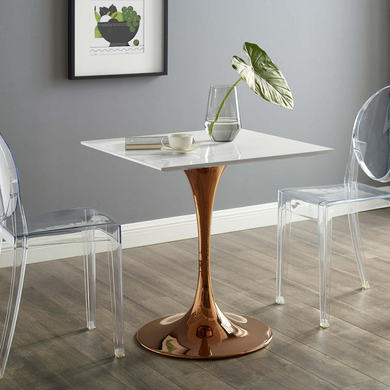 "Lippa 28"" Square Wood Top Dining Table"