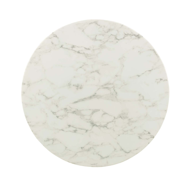 "Lippa 36"" Round Artificial Marble Dining Table"