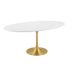 "Lippa 78"" Oval Wood Dining Table"