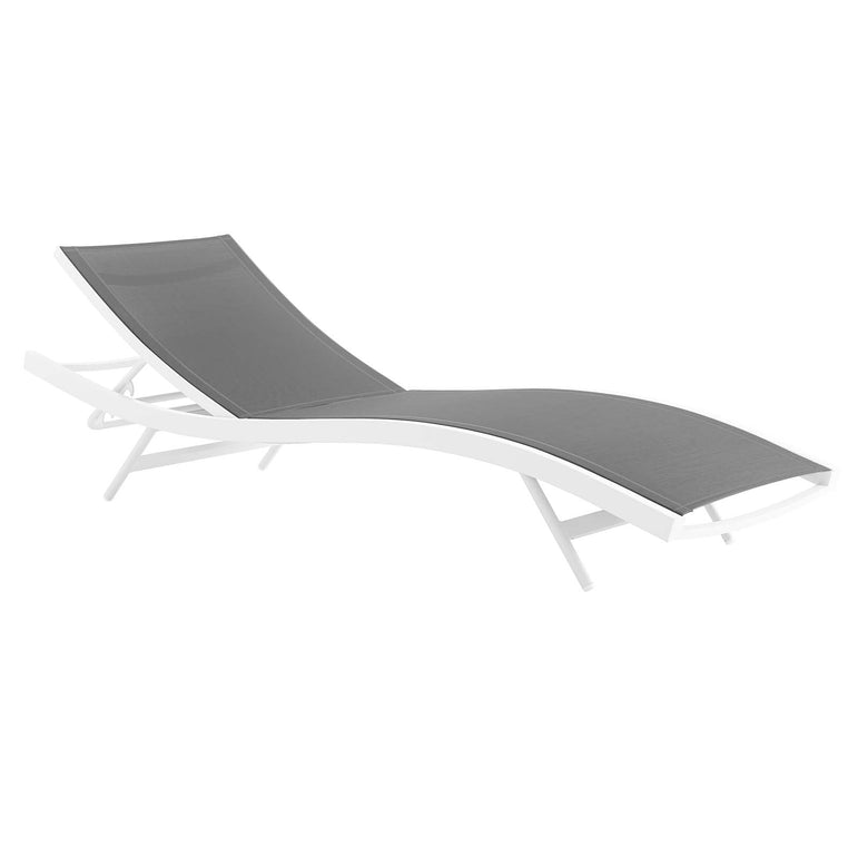 Glimpse Outdoor Patio Mesh Chaise Lounge Chair