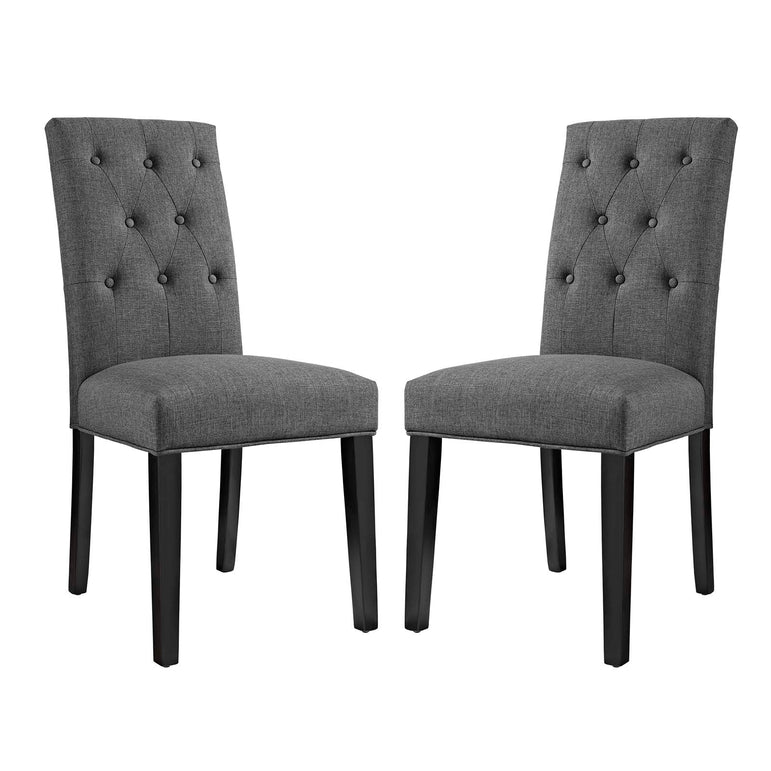 Confer Dining Side Chair Fabric Set of 2