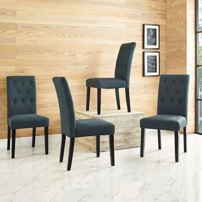 Confer Dining Side Chair Fabric Set of 4